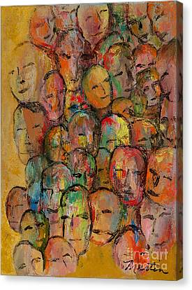Faces In The Crowd Canvas Print by Larry Martin