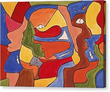 Faces Canvas Print by Jose Rojas