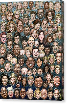 Faces Of Humanity Canvas Print by Kevin Middleton