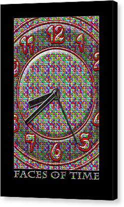 Faces Of Time 2 Canvas Print