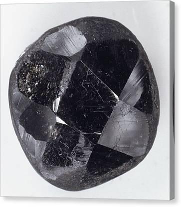 Faceted Bort Diamond Canvas Print