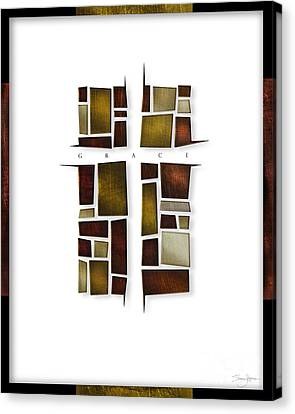 Canvas Print featuring the mixed media Facets Of Grace by Shevon Johnson