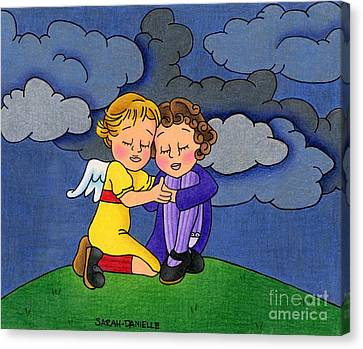 Stormy Canvas Print - Facing It Together by Sarah Batalka