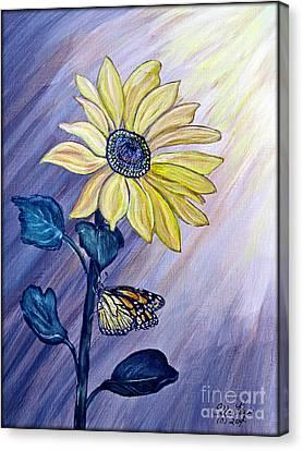 Facing The Sun Canvas Print by Ella Kaye Dickey