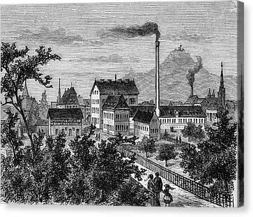 Factory And Paper Mill Canvas Print by Bildagentur-online/tschanz