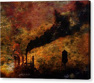 Factory Canvas Print by Bruce Rolff