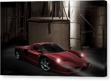 Factory Canvas Print - Factory Ferrari by Peter Chilelli