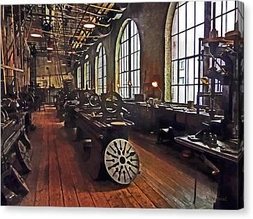 Factory Machine Shop Canvas Print