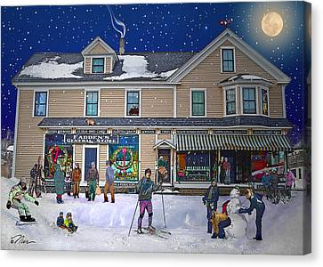 Faddens General Store In North Woodstock Nh Canvas Print by Nancy Griswold