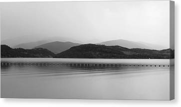 Canvas Print featuring the photograph Fade To Gray by Karen Shackles