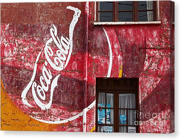 Faded Coca Cola Mural 1 Canvas Print by James Brunker