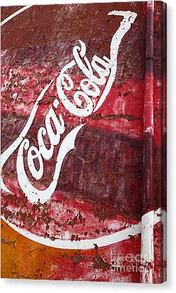 Faded Coca Cola Mural 2 Canvas Print by James Brunker