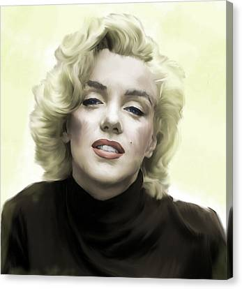 Marylin Monroe Canvas Print - Faded Dream Marilyn Monroe by Iconic Images Art Gallery David Pucciarelli