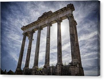 Faded Glory Of Rome Canvas Print by Joan Carroll