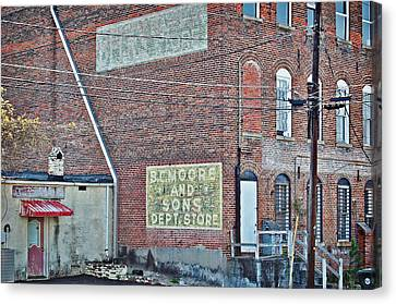 Canvas Print featuring the photograph Faded Signs by Linda Brown