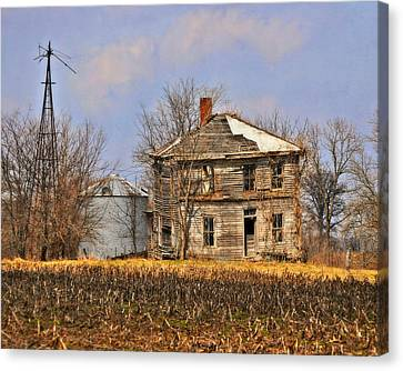 Fading Farm Canvas Print by Marty Koch