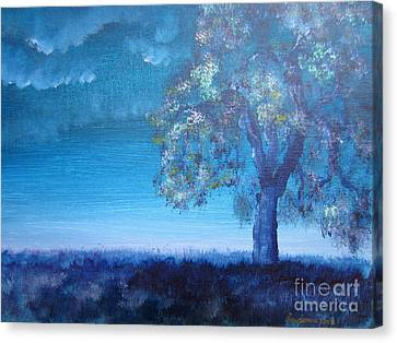 Canvas Print featuring the painting Fading Light by Laurianna Taylor