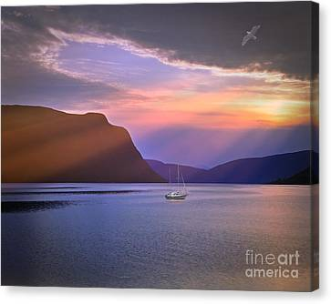 Fading Of The Light Canvas Print by Edmund Nagele