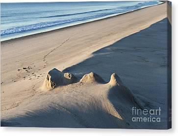 Fading Sand Castle Canvas Print by John Greim