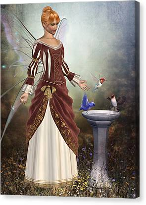 Faerie Garden Canvas Print by David Griffith