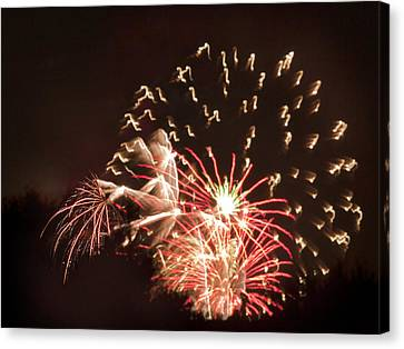 Canvas Print featuring the photograph Faerie In The Fireworks by Terri Harper