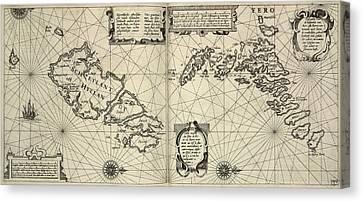 Seacoast Canvas Print - Faeroe Islands by British Library