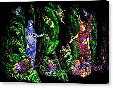 Faery Forest Canvas Print by Lisa Yount