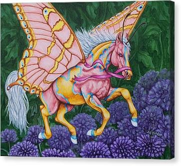 Faery Horse Hope Canvas Print by Beth Clark-McDonal
