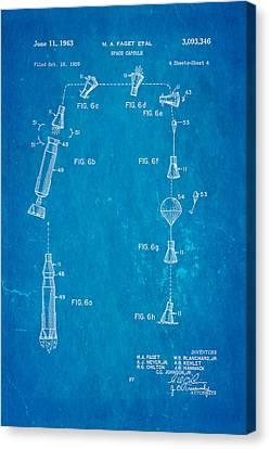 Faget Space Capsule Patent Art 2 1963 Blueprint Canvas Print by Ian Monk
