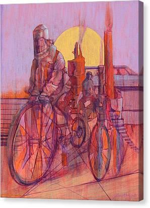 Fahrenheit 451 Canvas Print by J W Kelly