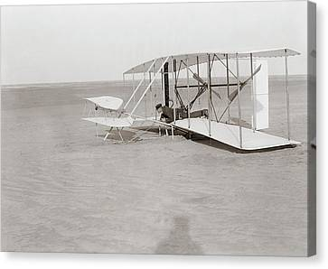 Failed First Wright Flyer Flight Canvas Print by Library Of Congress
