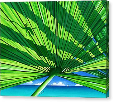 Fair Weather Fronds Canvas Print by Carolyn Steele