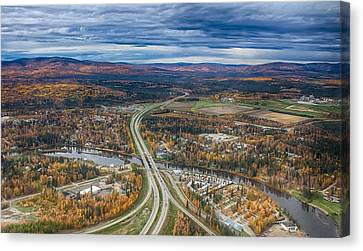 Canvas Print featuring the photograph Fairbanks Alaska The George Parks Highway by Michael Rogers