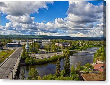 Fairbanks Alaska The Golden Heart City 2014 Canvas Print