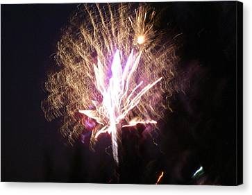 Fairies In The Fireworks I Canvas Print by Jacqueline Russell