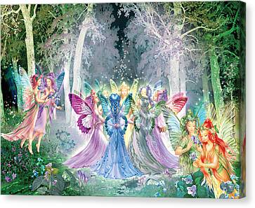 Fairies Song Canvas Print by Zorina Baldescu