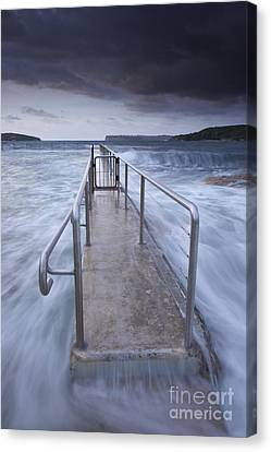 Fairlight Tidal Pool Canvas Print by Donald Goldney