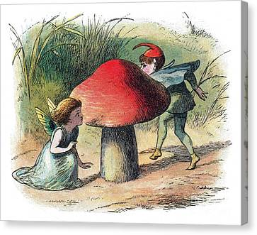 Fairy And Elf-legendary Creatures Canvas Print by Photo Researchers