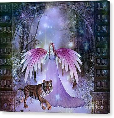 Fairy And Tiger Canvas Print
