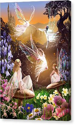 Mushroom Canvas Print - Fairy Ballet by Garry Walton