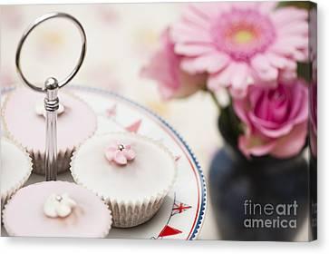 Close Focus Floral Canvas Print - Fairy Cakes by Anne Gilbert