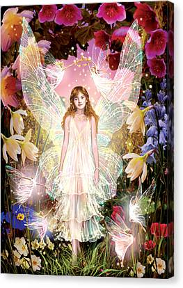 Fairy Crowning Canvas Print by Garry Walton