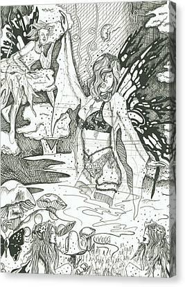 Fairy Dance 1 Canvas Print by Kryztina Spence