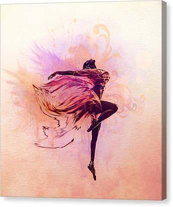 Ballet Dancers Canvas Print - Fairy Dance by Lilia D