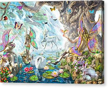 Fairy Falls Canvas Print by Adrian Chesterman