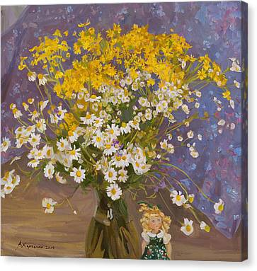 Fairy Forest Canvas Print by Victoria Kharchenko