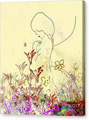 Canvas Print featuring the digital art Fairy by Gabrielle Schertz