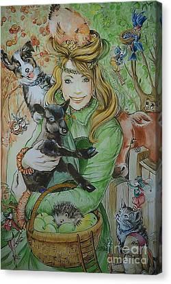 Fairy Hoppert Canvas Print by Ottilia Zakany