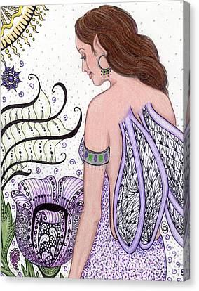 Fairy -- I Just Love My Poppy Canvas Print