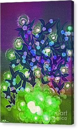 Fairy Light Garden Green By Jrr Canvas Print